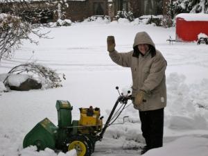 Daddy Rog enjoying the snow!