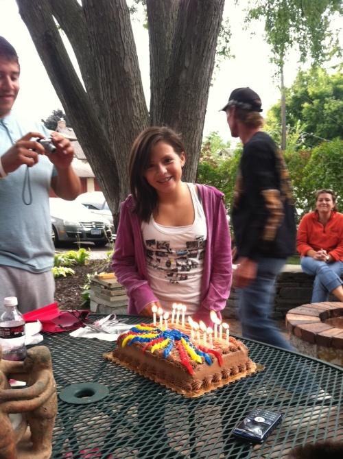 My cousin Shawna & Her birthday cake