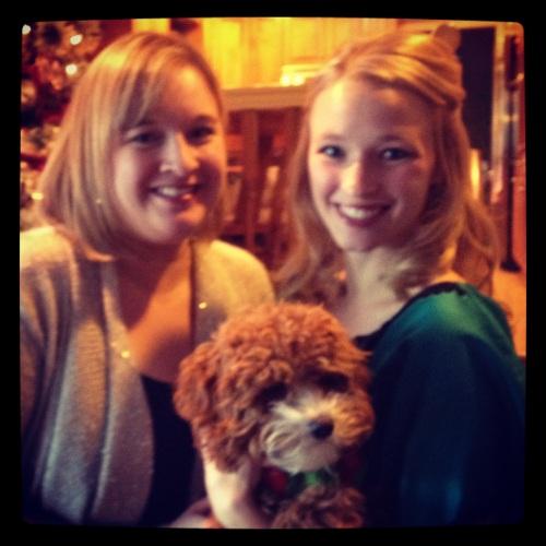 My sister and I Christmas Eve
