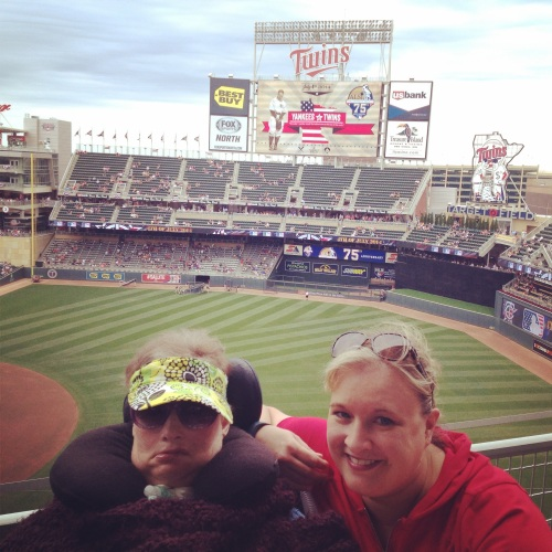 Mom and I went to a couple of Twins games!