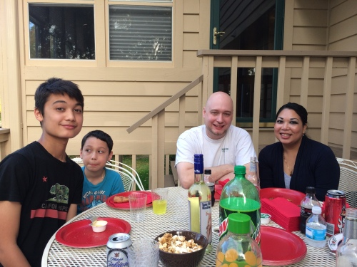 More family time on the deck
